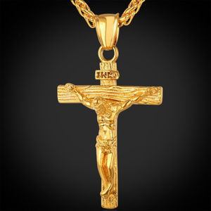 Other - Hip Hop Gold INRI Crucifix Jesus Necklace